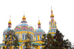 Cathedral church in Almaty Stock Images