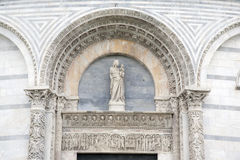 Cathedral Church Baptistry in Pisa; Italy Stock Photo