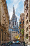 Cathedral church in Barcelona, Spain Stock Image