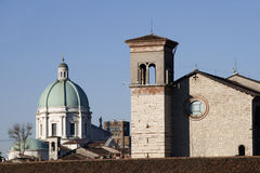 Cathedral and church of Brescia Stock Photos