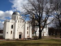 Cathedral. The Church in Chernigov city Park Royalty Free Stock Images