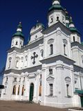 Cathedral. The Church in Chernigov city Park Royalty Free Stock Photo