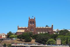 Christ Church Cathedral, Newcastle, Australia Stock Photo