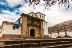 Cathedral Church, Christian Cross, Puno,Peru,America. Royalty Free Stock Photography