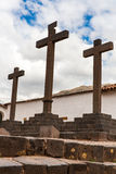 Cathedral Church, Christian Cross, Puno,South America. Royalty Free Stock Photo