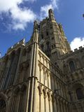 Cathedral church. Ely Cathedral Church blue sky royalty free stock photos