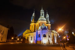 cathedral church in evening Stock Photos