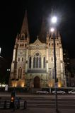 Cathedral Church at Federation Square Melbourne Royalty Free Stock Photo