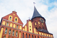 Cathedral Church of Kaliningrad on Kant island. Royalty Free Stock Photography