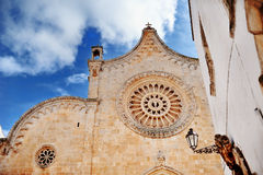 Cathedral church of the medieval town Ostuni, Apulia, southern Italy Royalty Free Stock Photo