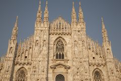 Cathedral Church in Milan Stock Image