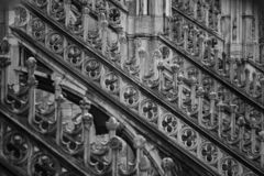 Beautiful Milan catheral catholic church Duomo di Milano royalty free stock photography