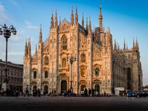 The cathedral church of Milan royalty free stock images