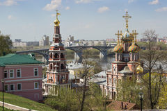 Cathedral Church of the MostHoly mother of God in Nizhny Novgoro Royalty Free Stock Photography