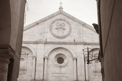 Cathedral Church in Pienza; Tuscany; Italy Royalty Free Stock Images