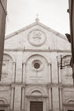 Cathedral Church in Pienza; Tuscany Royalty Free Stock Photo