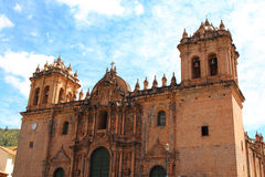 Cathedral church at the Plaza de Armas. Cuzco, Peru. Royalty Free Stock Images