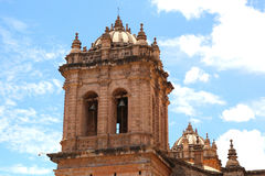 Cathedral church at the Plaza de Armas. Cuzco, Peru. Stock Photography