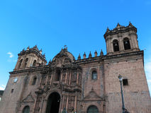 Cathedral church at the Plaza de Armas. Cuzco, Peru Stock Image