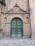 Cathedral church at the Plaza de Armas. Cuzco, Peru. Sunny day Royalty Free Stock Photography