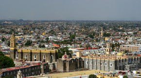 Cathedral church in Pueblo, Mexico Stock Photo