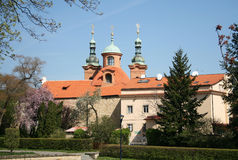 Cathedral church of Saint Lawrence on Petrin Hill, Prague, Czech Republic Royalty Free Stock Image