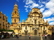 Cathedral Church of Saint Maria in   Murcia, Spain Stock Images