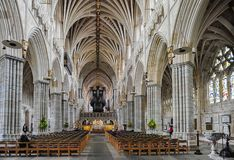 Cathedral Church of Saint Peter in Exeter stock images