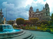 The Cathedral Church of San José de Toluca. In the State of Mexico, Mexico stock photos