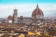 Cathedral church Santa Maria del Fiore at summer day, Florence, Italy Stock Photo