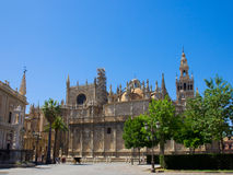 Cathedral church of Seville, Spain. Cathedral church (Catedral de Santa Mar?a de la Sede),  Seville, Spain Stock Photography