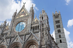 Cathedral church in Siena Royalty Free Stock Photo