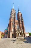 Cathedral  church of  Wroclaw, Poland Royalty Free Stock Images