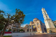 Cathedral Church of St. Nicholas, Volos, Greece - April 2017. Stock Photos