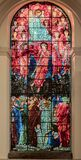 The Cathedral Church of St Philip The Last Judgement Window Stock Image