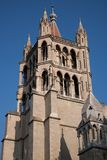 Cathedral Church Tower, Lausanne Royalty Free Stock Photos