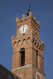 Cathedral Church Tower; Pienza, Tuscany Royalty Free Stock Photo
