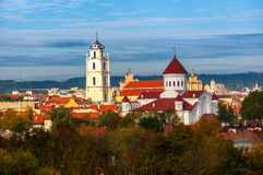 Cathedral and church in Vilnius Royalty Free Stock Image