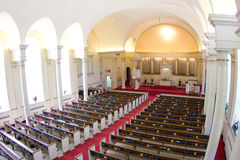 Cathedral church. Before wedding with flowers Royalty Free Stock Images
