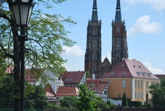 The Cathedral Church in Wroclaw, Poland Stock Photography