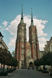 Cathedral church wroclaw poland Stock Photos