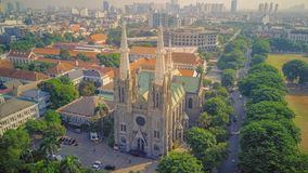 Cathedral Church from the top, Jakarta. Indonesia. Cathedral churh from the top, Jakarta. Indonesia. A historic building in Jakarta stock images