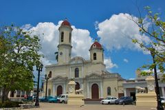 Cathedral of Cienfuegos Stock Photography