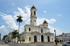 Cathedral of Cienfuegos (Cuba). General view of the Cathedral of Purisima Concepcion in Cienfuegos. It's inscribed on UNESCO world heritage list Royalty Free Stock Photos