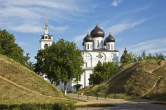 The cathedral in citadel of Dmitrov town, Russia Stock Images