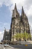 Cathedral in the city of Cologne Stock Image