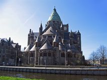 Cathedral in the city of Haarlem. Royalty Free Stock Photography