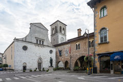 Cathedral and City hall in Cividale del Friuli stock photo