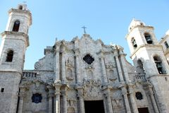Cathedral. The city of Havana in Cuba Royalty Free Stock Photo