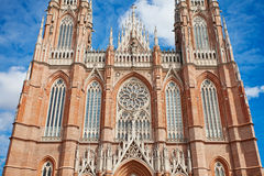 The Cathedral in the city of La Plata Royalty Free Stock Images